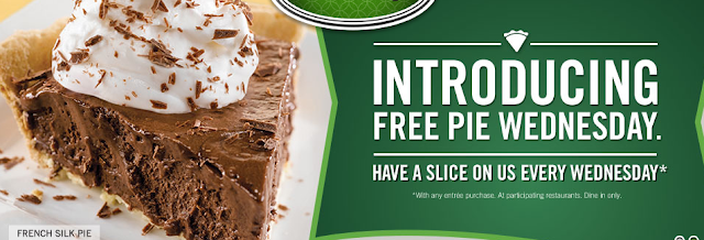 o'charley's free slice of pie on wednesdays deal