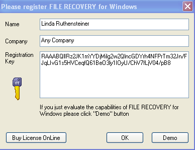 file recovery crack: