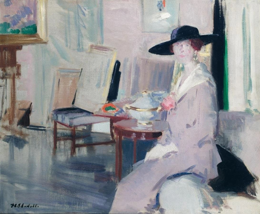 Francis Cadell Miss Don Wauchope in the drawing room