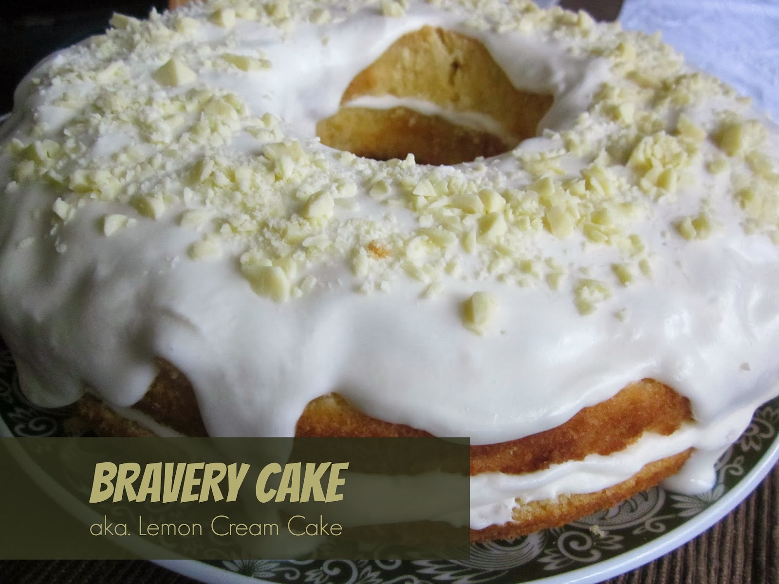 Bravery cake: lemon cream cake