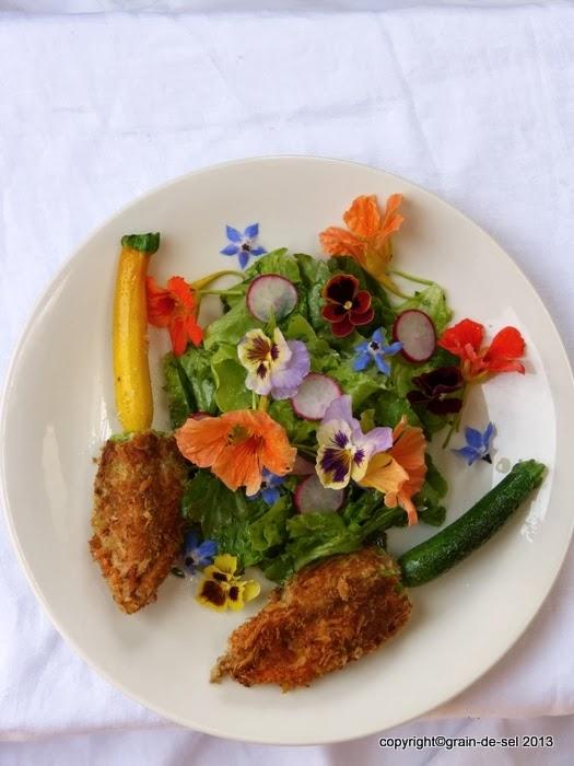 nearly gender free gef llte zucchinibl ten mit bl ten salat salzkorn meine gartenk che. Black Bedroom Furniture Sets. Home Design Ideas
