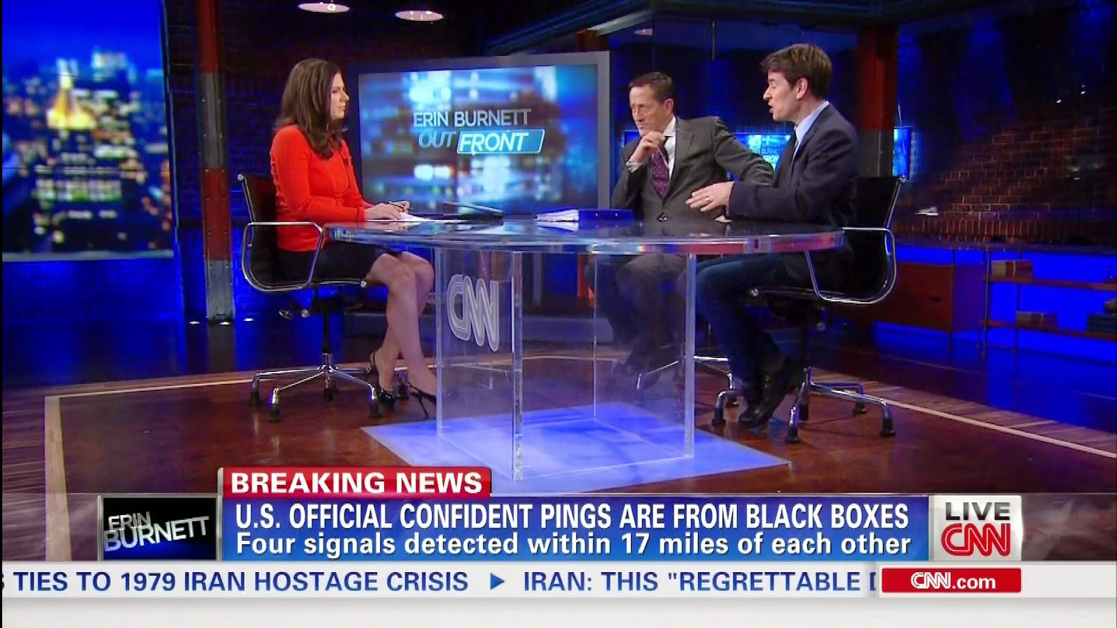 Erin Burnett legs on CNN OutFront