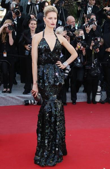 Karolina Kurkova Roberto Cavalli elbisesiyle
