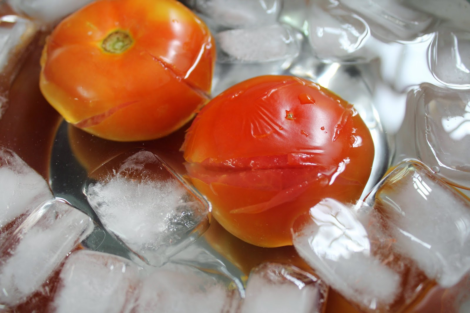 Tomato icebath
