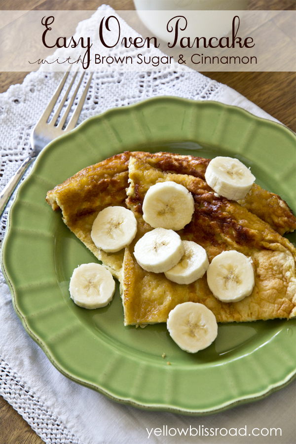 Get the recipe for this easy and delicious oven baked pancake! So easy and the kids love it too!!
