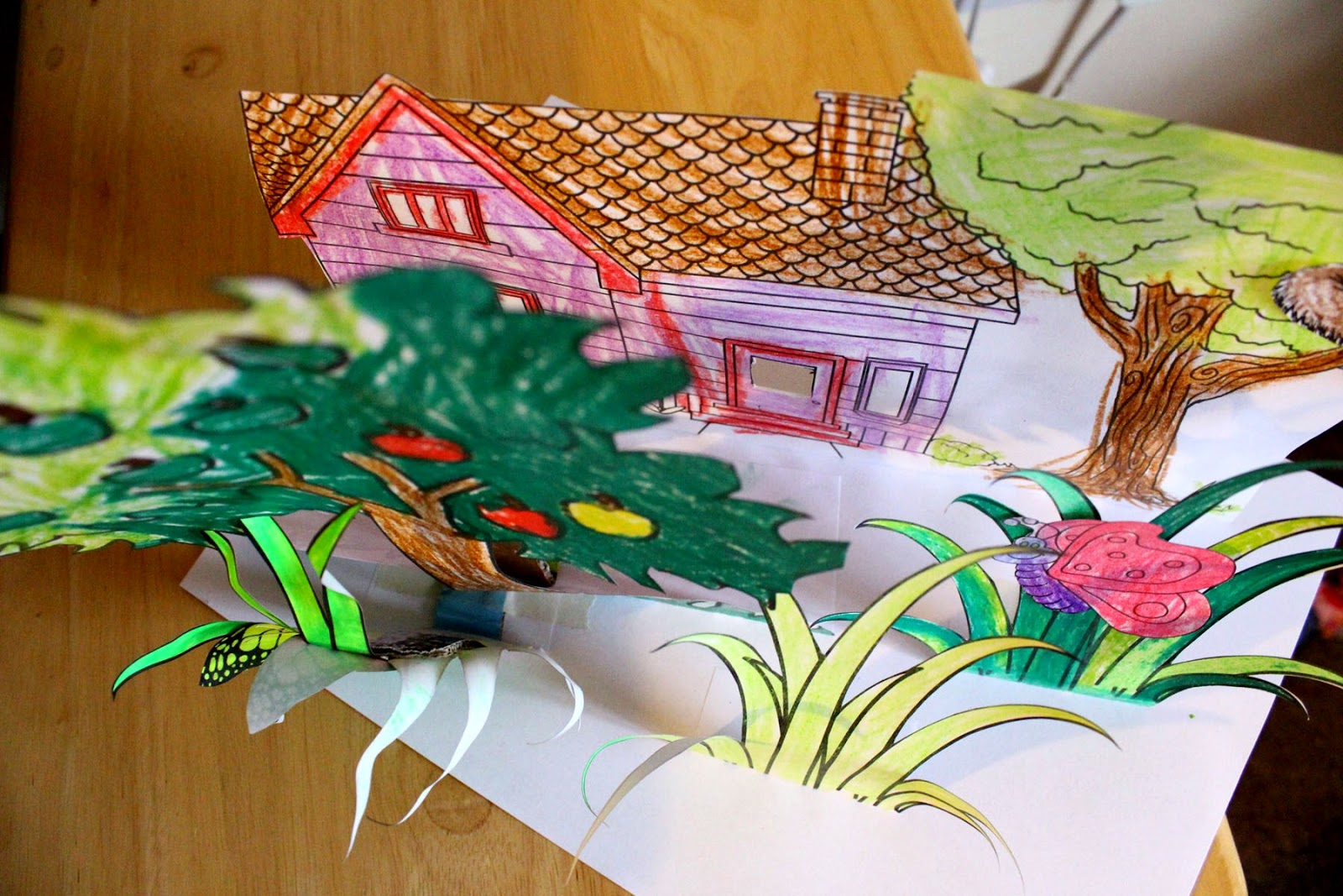 spring garden, paper craft, arts and crafts, spring, todaymyway.com