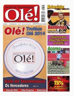 """PERIODICO """"OLÉ"""" PROXIMAS PUBLICAÇÖES: 20-11-14 / 11-12-14 Y 15-01-15."""