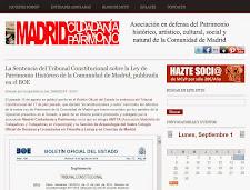 La Ley de Patrimonio Histórico de la Comunidad de Madrid es inconstitucional