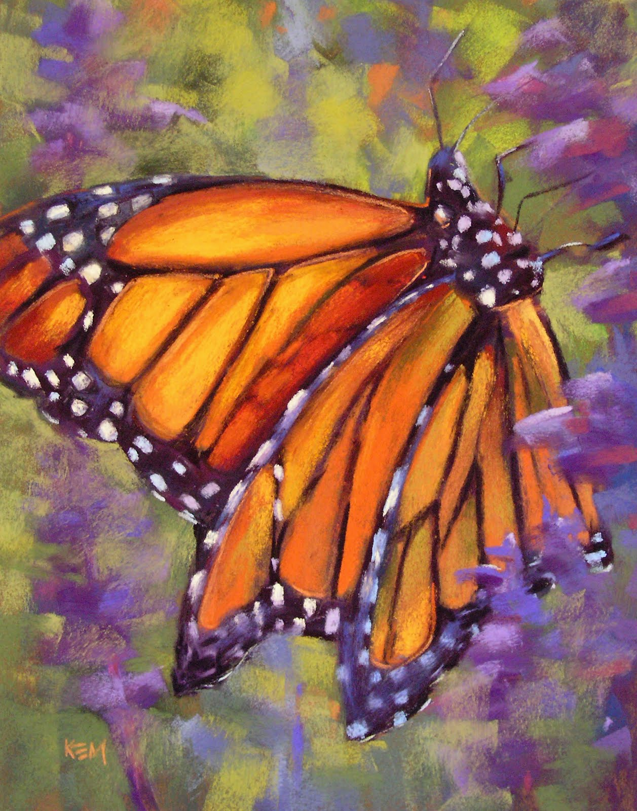 painting my world how to paint a monarch butterfly pastel demo