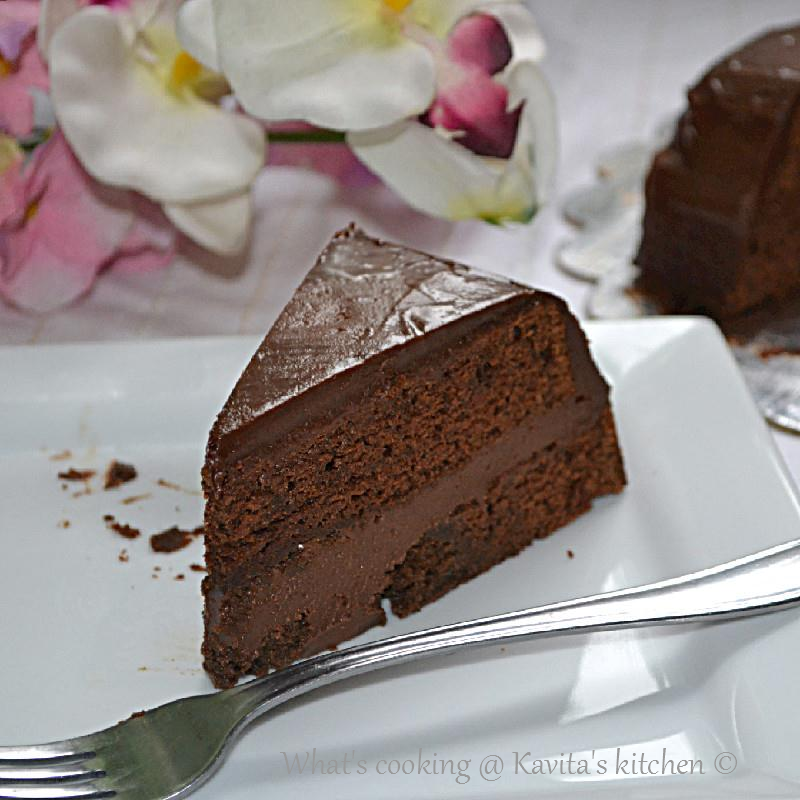 ... ganache/ Chocolate ganache cake/ Eggless chocolate cake with chocolate