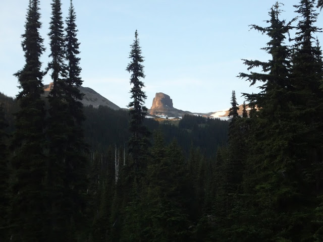 View of Black Tusk from Taylor Meadows Campsite
