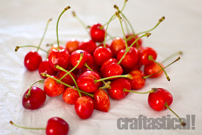beautiful cherries, Royal Ann or corum cherries