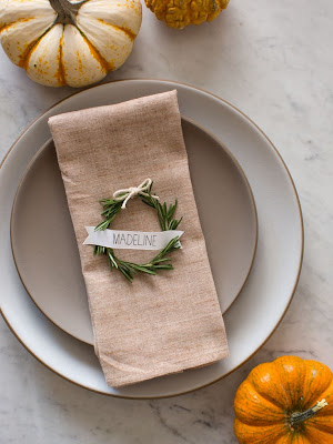 http://www.spoonforkbacon.com/2013/10/rosemary-wreath-place-cards/