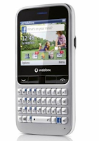Vodafone 555 Blue, Facebook Mobile Phone