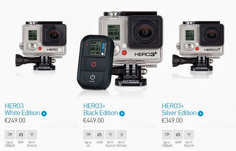 gopro lan a novas hero3 melhoradas aberto at de madrugada. Black Bedroom Furniture Sets. Home Design Ideas