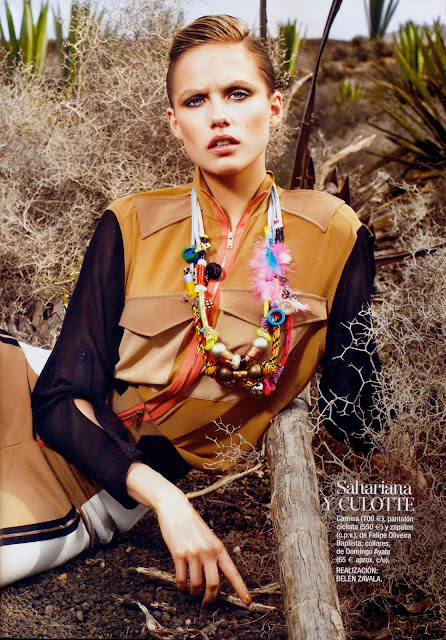 GLAMOUR SPAIN  numero 114 abril 2012 Safari Chic. Domingo Ayala Handmade