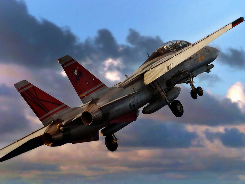 Avión de guerra despegando