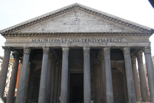 The Pantheon was taken in the daytime in Rome, Italy