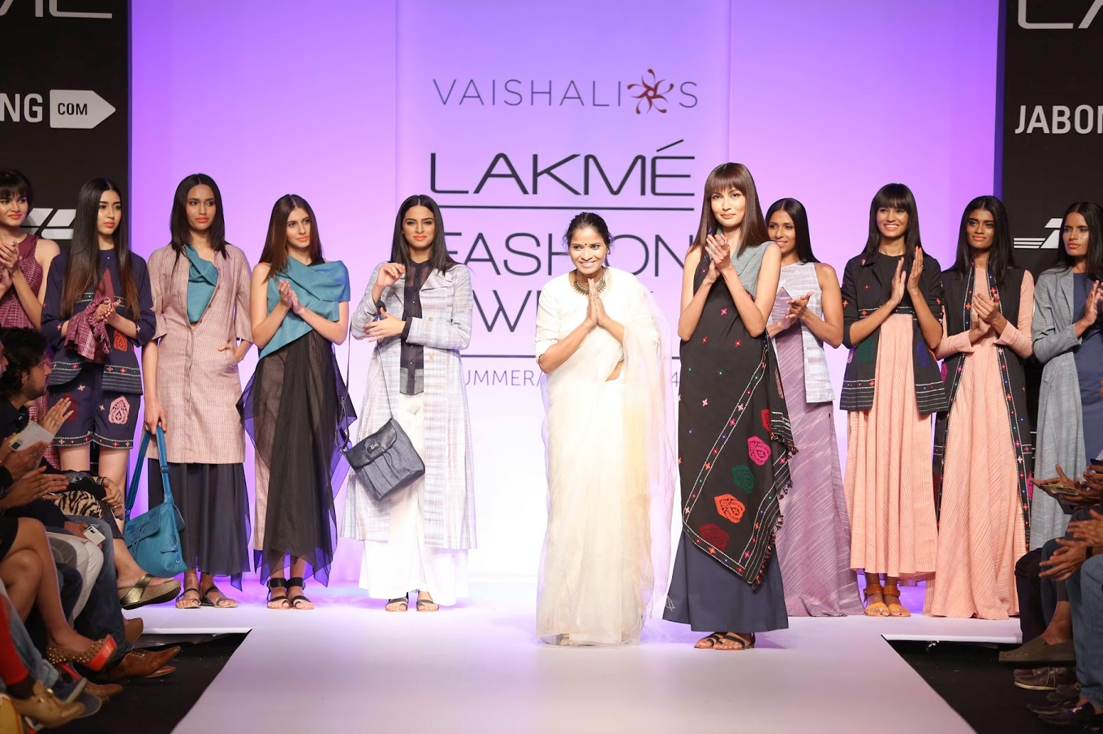 "Inspired by the fabulous tribal khadi fabrics created in the hinterlands of Assam by women weavers, Vaishali Shadangule's collection called ""Ravayat"" was a compelling stylish offering at Lakmé Fashion Week Summer/Resort 2014."