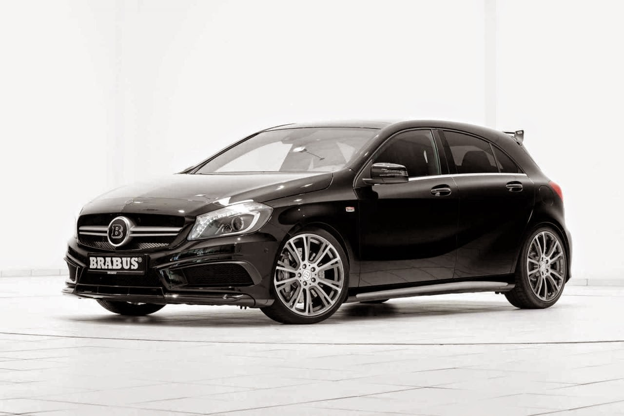 brabus b45 based on mercedes benz w176 a45 amg benztuning. Black Bedroom Furniture Sets. Home Design Ideas
