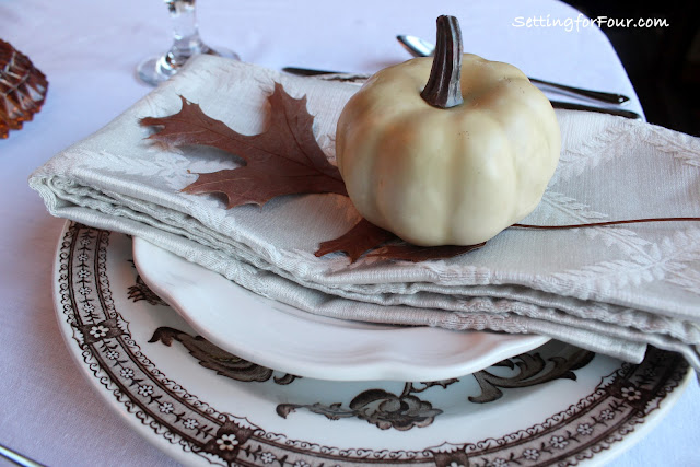 Thanksgiving Tablescape from Setting for Four