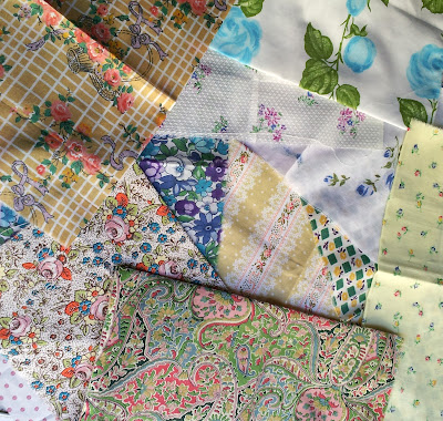 retro cotton fabric prints