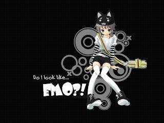 Do I Look Like EMO Anime Dark Gothic Wallpaper