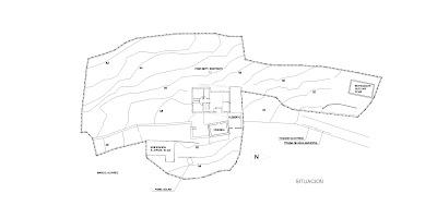 Plano de situación vivienda unifamiliar en Oia