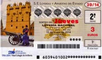 Lotería Nacional del jueves 15 de mayo de 2014