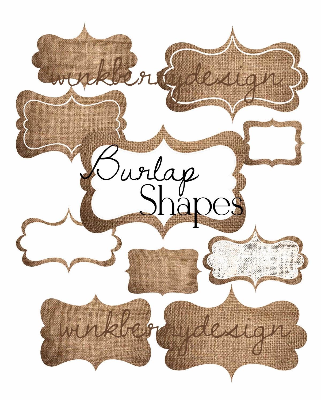Label Shapes Burlap label tag shapes - shop