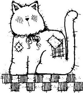Riscos para pintura e patchwork de Gatos