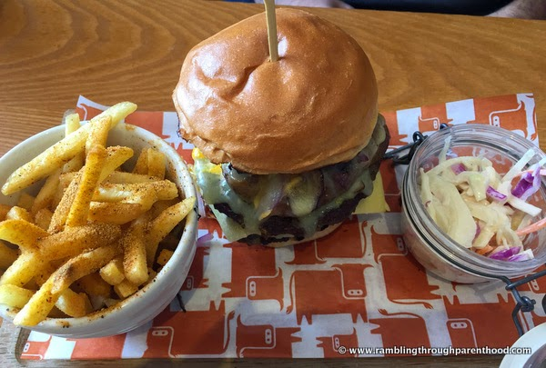 Cheese and Mushroom Steak Burger at Quay House Beefeater