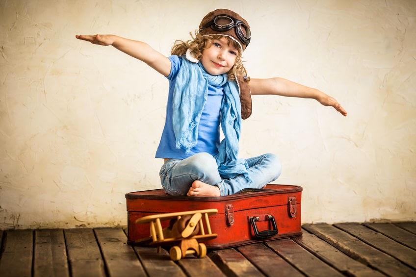 niña piloto avión