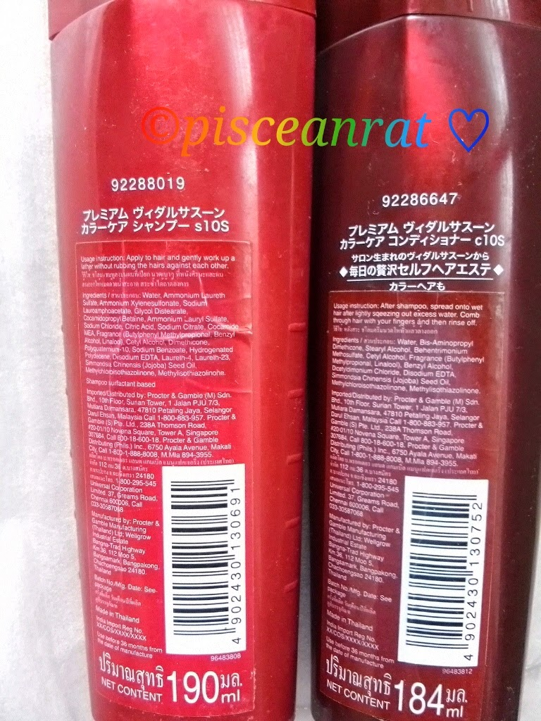 vidal sassoon shampoo condtioner review