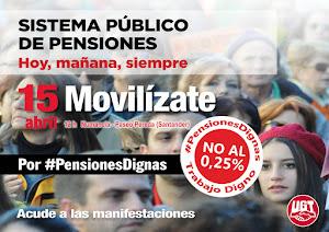 Domingo 15 de Abril Manifestación , 12h de Numancia A Paseo de Pereda (Santander)