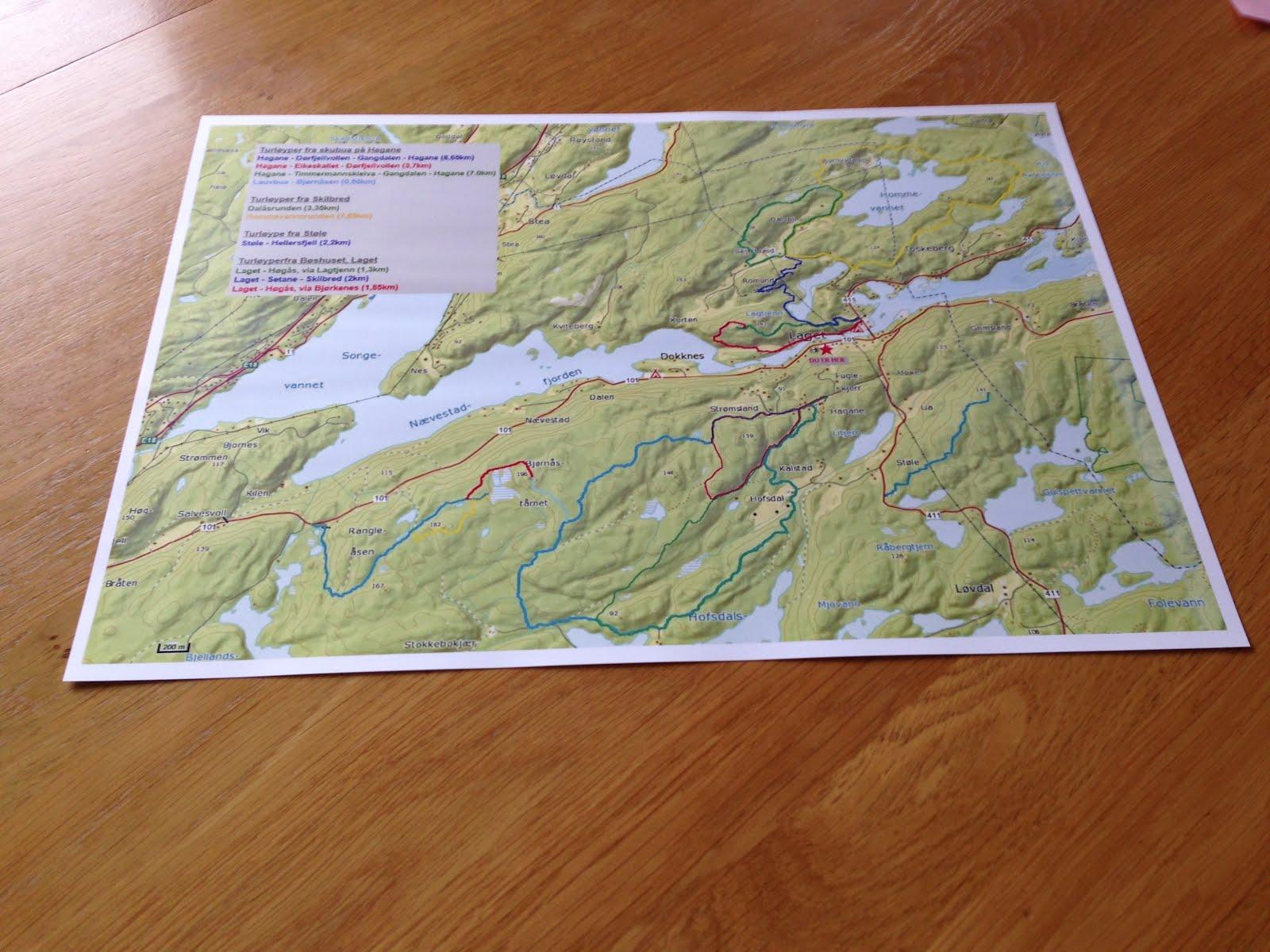 Kart over turløypene