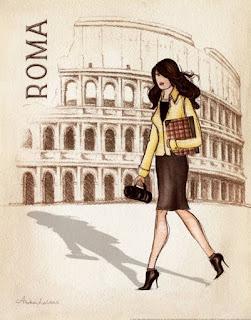 Chica en Roma  Chicas y ciudades para imprimir