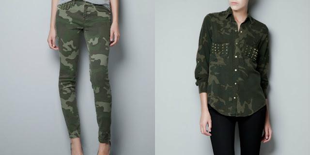 military trend, tendência camuflado, camouflage trend, zara