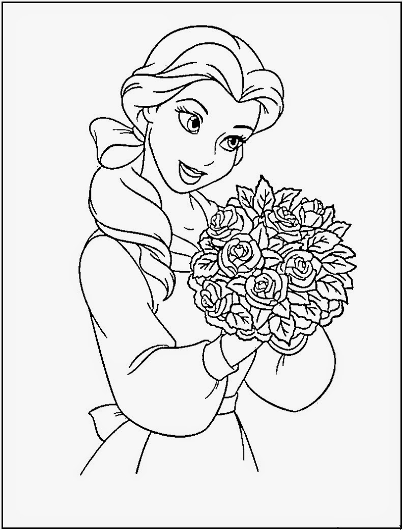 Disney Princesses Coloring Pages - Disney Coloring Pages