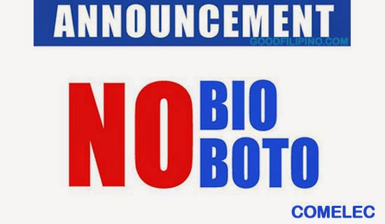 Comelec: 'No Bio, No Boto' campaign for 2016 Election