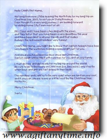 Kids and deals personalized santa claus letter for Cheap letters from santa claus