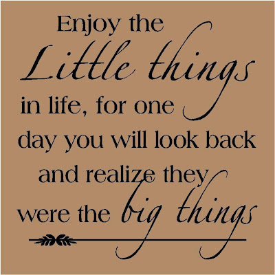 Enjoy The Little Things In Your Life For One Day You Will Look Back