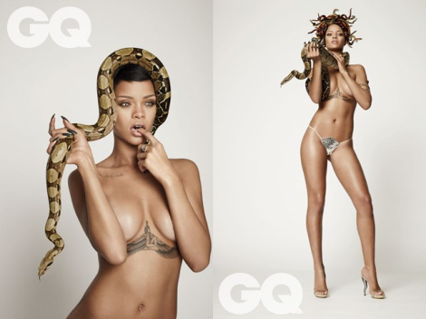 Rihanna as Medusa for British GQ