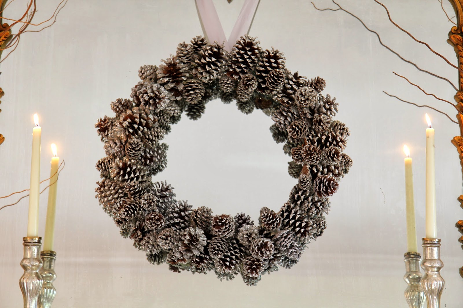 Pinecone Wreath for Christmas