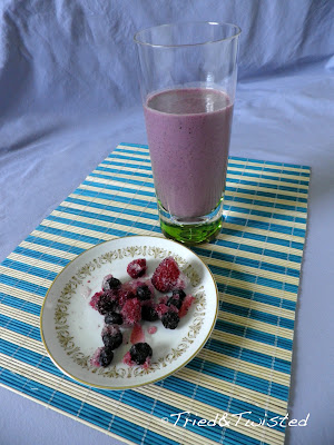 Frozen Mixed Berry Smoothie | Tried & Twisted