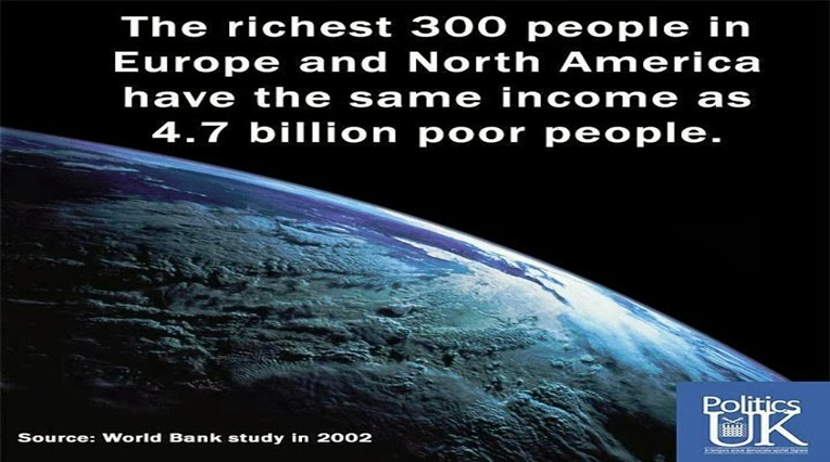 World's 100 Richest earned enough in 2012 to End Global Poverty 4 Times over
