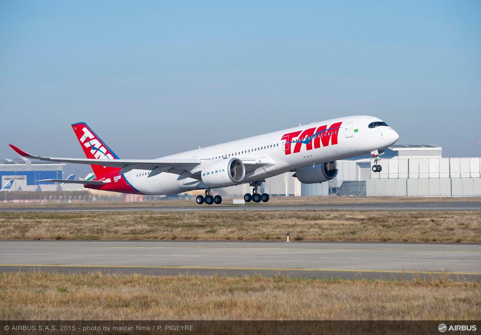 Veja fotos em linha do tempo a construção do primeiro Airbus A350 XWB da TAM