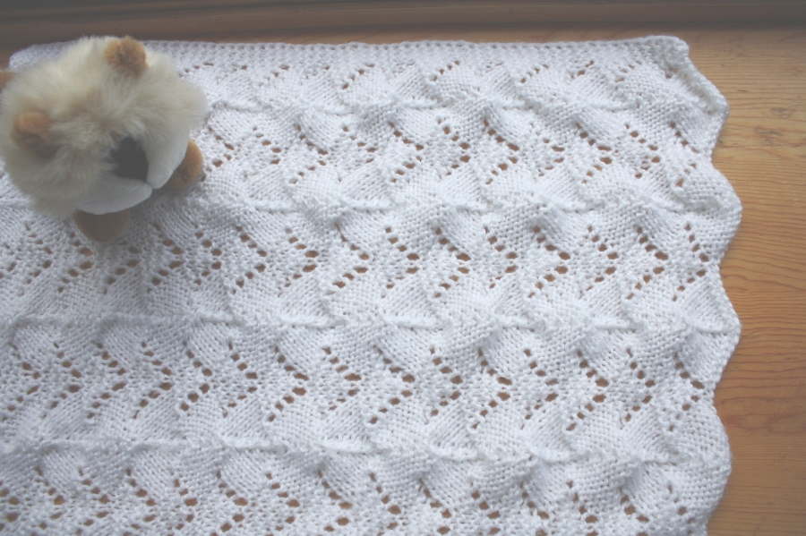 All Knitted Lace: Reversible Lace Baby Blanket Pattern release
