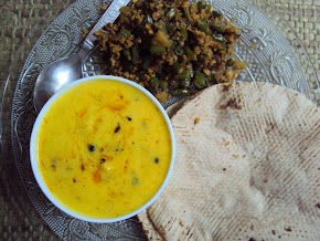 dhokli kadhi ... if you are craving for kadhi pakodi and are scared of frying...