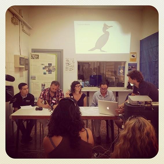 Jordi, Giacomo, Anita, Antoni, Manolo y el técnico de la presentación